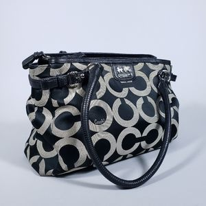 Coach Madison Kara Black Gray Bag 22344 SBWBK